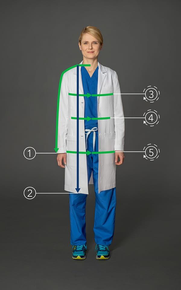 Customized long coat for women