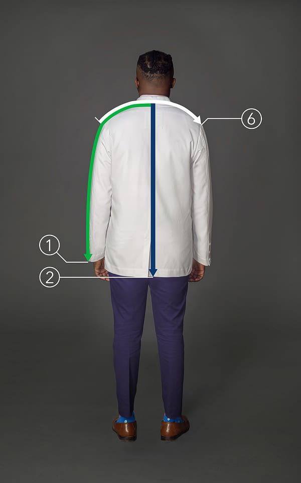 Customized short coat for men