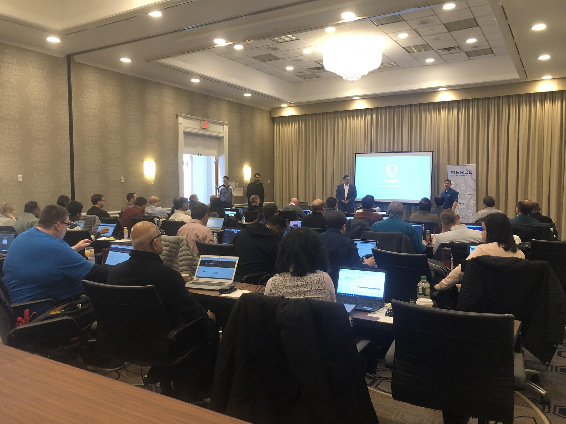 Full room at the Westfields Ansible Tower Workshop