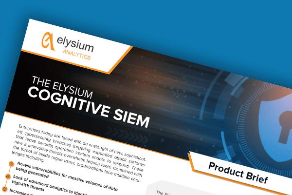 The Elysium Cognitive SIEM